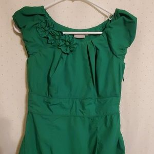 eShakti | Green Midi Dress